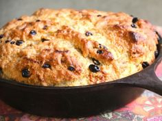 Easy Irish Soda Bread - Golden brown on top and filled with currants, Kelsey's Irish Soda Bread is simple and tasty. You can even swap raisins for the currants - but either way, be sure to slather some butter on a warm slice!