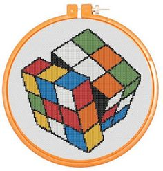 RUBIKS CUBE Cross-stitch