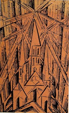 Lyonel Feininger, Cathedral, woodcut from the Bauhaus Manifesto
