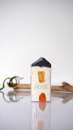 Miniature HOME house Glossy glaze little by VitezArtGlassDesign
