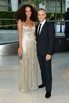 Pin for Later: The Hottest Date Last Night Was a Fashion Designer Solange Knowles and Francisco Costa