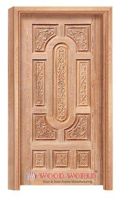 Wooden Frame - Wooden Door and Door Frame Manufacturing Company. Wooden Glass Door, Wooden Front Door Design, Wooden Front Doors, Room Door Design, Door Design Interior, Single Main Door Designs, Door Design Images, Modern Wooden Doors, Decoration