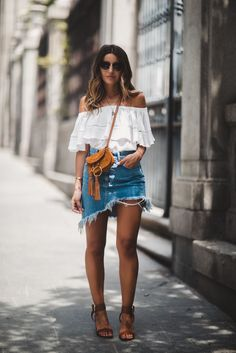 Steal Her Style: Asymmetrical Denim Skirt - The Daily Dose