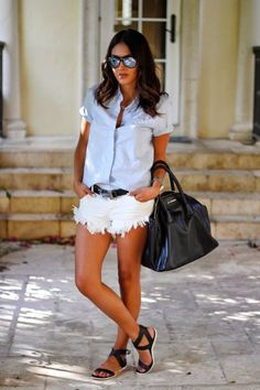 Blue And White Casual Style