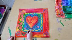 Pleasing Fifth Grade Heart Lesson Plan with Additional Paintbrush Rocket Third Grade Peter Max Hearts Elementary Art Rooms, Art Lessons Elementary, Art Activities For Kids, Art For Kids, Third Grade Art, Grade 3, Second Grade, Valentines Art Lessons, Square One Art