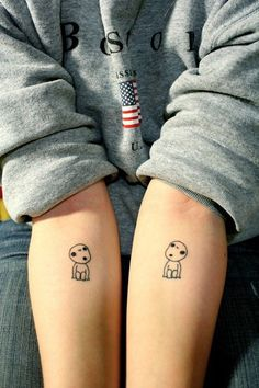 Kodama tattoo for my love of Studio Ghibli and since kodama are known as nature spirits in Japan Badass Tattoos, Body Art Tattoos, New Tattoos, Small Tattoos, Cool Tattoos, Tatoos, Phoenix Tattoos, Arrow Tattoos, Tiny Tattoo