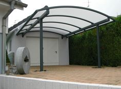 click on the link for a great variety of carport options - CARPORT ALUMINIUM ALSACE Metal Barn Homes, Metal Building Homes, Pole Barn Homes, Carport Aluminium, Aluminium Doors, Covered Patio Design, Covered Pergola, Carport Designs, Garage Design