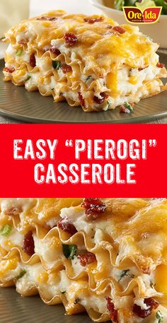 You'll love this easy casserole! It's everything you love in a pierogi - in easy-to-transport, potluck-perfect form. Pierogi Casserole, Pierogi Recipe, Casserole Dishes, Dinner Dishes, Pasta Dishes, Dinner Recipes, Dinner Entrees, Fall Recipes, Dinner Ideas