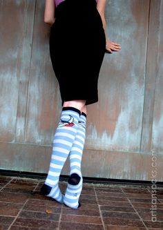 Sock It To Me Sparrow Cotton Knee High Knee Socks from Artisan Socks www.artisansocks.com