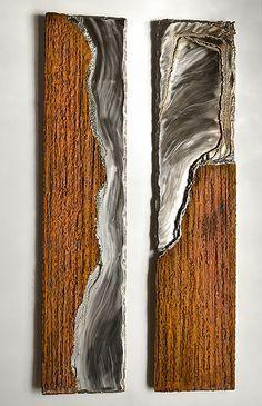 GAHR | Abstraktes Wandbild aus Rost- und Edelstahl