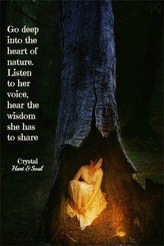 Reach deep...Listen...Hear...