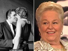 The woman in the Elvis photo: mystery solved!  Fans of Elvis Presley, or anyone who's a fan of iconic pop culture photography, will recognize an image of Presley kissing an unidentified blonde woman. Until now, the object of Presley's affection in that 1956 photo has remained a mystery. VanityFair.com revealed the identity of the woman, Barbara Gray, who is now 75.