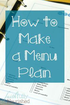 How to Make a Menu Plan