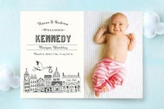 Vintage Storybook Birth Announcements by Griffinbell Paper Co. at minted.com