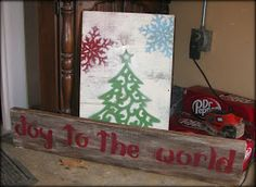 Tattered and Inked: Dollar Store Christmas Art