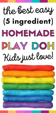 Save a heap of money by making this BEST super easy DIY Non-Toxic Play-Doh. Made with 5 simple ingredients this super soft Play-Doh Recipe keeps for weeks in the fridge! #playdoh #playdohrecipe #easyplaydohrecipe #diyplaydoh #bestdiyplaydoh #homemadeplaydoh #besthomemadeplaydoh #easyhomemadeplaydoh #simpleplaydohrecipe #nontoxicplaydoh #diyplaydough #homemadeplaydough