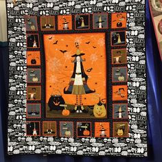 Halloween quilt | Capital Quilters (New Zealand) Halloween Quilt Patterns, Halloween Quilts, Halloween Ghosts, Halloween Party, Strip Quilts, Panel Quilts, Block Of The Month, Custom Quilts, Wool Applique