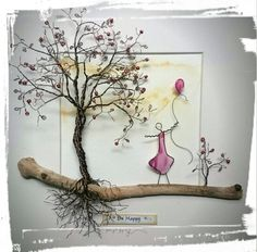 Copper Wire Tree... www.thestoneartgallery.com Facebook: The Stone Art Gallery