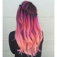 Pink ombre hair - Hair Do's or Do-Knots - Ombre Hair Color, Cool Hair Color, Purple Ombre, Pastel Ombre Hair, Pink Color, Dyed Hair Ombre, Pastel Purple, Pastel Hair Colour, Ombre Hair Rainbow