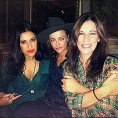 """At the Kristina Ti fashion show this morning with the gorgeous sisters in music Paola Turci e Rachele Bastreghi ❤️❤️ #kristinati @studioerrani #studioerrani @kristinatiofficial #CristinaScabbia #paolaturci #rachelebastreghi"" - Cristina Instagram"
