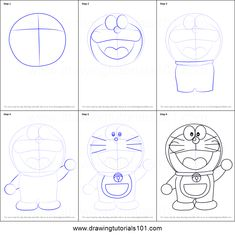 Doraemon is the lead protagonist of the series and it is a blue robot cat who has a signature blue and white body color tone