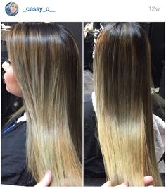 Brown and blonde ombré #sombre Instagram @_cassy_c__