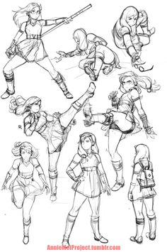 Meganssssssss — Annie Mei Project — action poses
