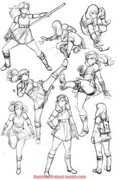 Meganssssssss — Annie Mei Project — action poses