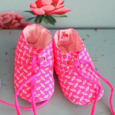 Chaussons bébé molletonnés // baby slippers