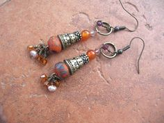 Boho Gypsy Handmade Earrings Handmade by GreenidladeeJewelry @ Etsy.com