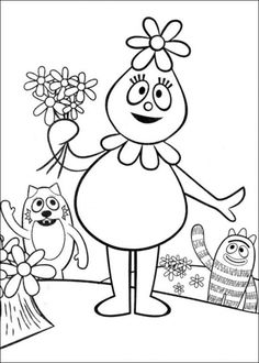 Yo gabba gabba coloring pagesny to choose from to add to favor yo gabba gabba coloring page thecheapjerseys Choice Image