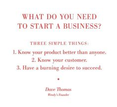 3 Things To Start a Business