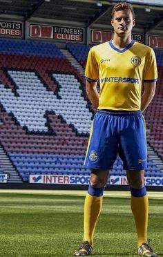 Wigan Athletic Mifit Away Kit Football Shirts, Sports Shirts, Wigan Athletic, Fitness Stores, Sporty, Swimwear, Kit, Design, Fashion