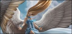Restoration Angel mtg Magic the Gathering rare angel card Mtg Art, Angel Warrior, Forgotten Realms, Magic The Gathering Cards, Moon Dust, Magic Cards, Angel Cards, Angels And Demons, Restoration