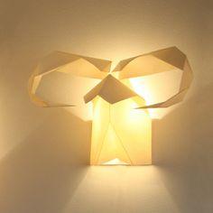 Origami Hunter Contemporary Designer Wall Lights » www.prettydandy.co.uk