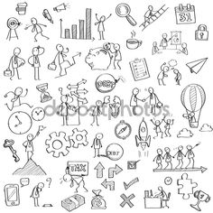 Find Sketching and drawing of businessman character in various concept of business, finance, feeling Visual Note Taking, Doodle Art Letters, Image Clipart, Sketch Notes, Stick Figures, Stock Foto, Design Thinking, Drawing Sketches, Sketching