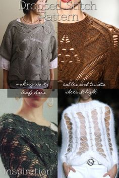 DiaryofaCreativeFanatic Dropped stitch patterns