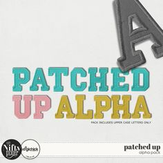 PATCHED UP | Alpha Pack This nifty little alpha is perfect for all those back to school pages. Each letter looks just like a varsity jacket patch and coordinates with our PRESENT & CORRECT products. The pack comes with an editable set so you can customise and recolour to suit your needs.  DOWNLOAD INCLUDES:  A-Z Letters Only in 3 Colourways + editable set. Alpha Sheets X3 All products are saved at 300ppi for optimum printing quality.