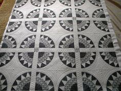 The second quilt she quilted for the book Modern Designs for Classic Quilts.  Sew Kind Of Wonderful