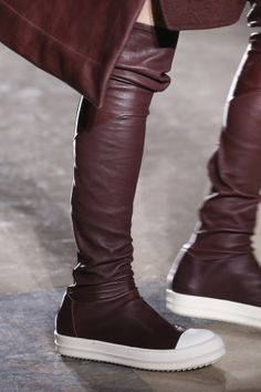 Rick Owens over-the-knee leather sneaker