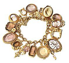 cameo and glass bracelet