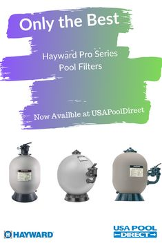 Top of the line filters from Hayward now available at USA Pool Direct! Check out their Pro Series pool filters and what they could do for you and your pool! Head on over to USA Pool Direct Now! Above Ground Pool, In Ground Pools, Swimming Pool Filters, Swimming Pools, Pro Series Pool, Pool Equipment, New Technology, Usa, Water