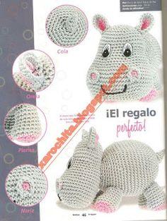 FREE HIPPO!!   Amigurumis a Click: Pattern Juanita !!!!