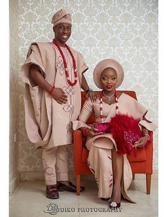 2 Sisters Get Married On The Same Day To Honor Their Mother (Wedding Photos) - Romance - Nigeria African Bridal Dress, Nigerian Wedding Dress, African Wedding Attire, Nigerian Bride, African Lace Dresses, Muslim Wedding Dresses, Latest African Fashion Dresses, African Print Fashion, African Attire