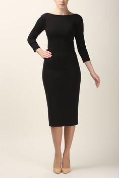 Black dress simple black dress jersey dress made to by Fanfaronada