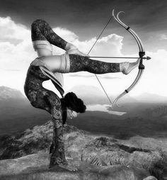 Handstand, archery with feet, and a blindfold. Everybody run! Your Body is a Wonderland http://pinterest.com/wineinajug/your-body-is-a-wonderland/