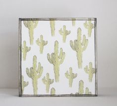 southwestern nursery art  cactus nursery art by redtilestudio