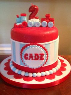 Cherie D's Birthday / Train - Photo Gallery at Catch My Party Trains Birthday Party, Train Party, Birthday Parties, Baby Boy First Birthday, 3rd Birthday, Birthday Ideas, Theme Cakes, Party Cakes, Kids Party Decorations