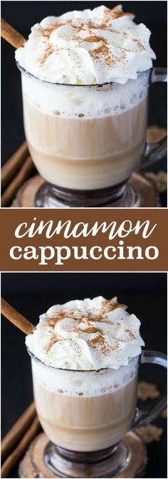 Cinnamon Cappuccino - Creamy, smooth and perfect for fall!