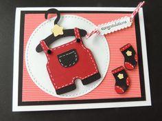 Cricut cartridge baby card, Baby Steps.